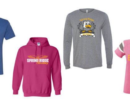 Show Your School Spirit with New Spring Ridge Apparel!